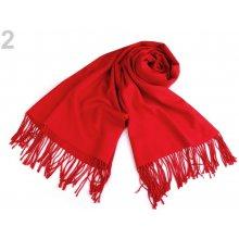 325c544251d Šála typu pashmina jednobarevná 65x180 cm červená 1 ks