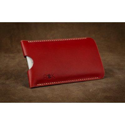 Pouzdro A-K z pravé kůže Asus Zenfone 3 ZE520KL, červené