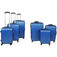 Malatec Sada 3 Cestovních kufrů ABS, M/L/XL modrá + TSA zámek