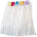 Havajská mini sukně bílá