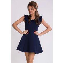BOOM dámské společenské šaty krátké s rozšířenou sukní tmavě modrá 9411dcff66