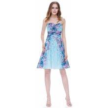 Ever-Pretty krátké šaty květinové 5498 modrá 6f1642ed0c6