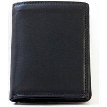 Kvalitní kožená peněženka HMT s látkovou podšívkou černá