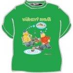 ee966ba0d4b tričko s potiskem Vášnivý rybář Pat a Mat bílá