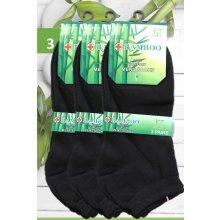 a641fa7964e Pesail Bamboo pánské a bambusové ponožky kotníkové černé 3 páry