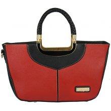 Gallantry kabelka se zlatými prvky červeno-černá