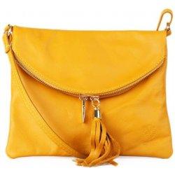 Italské Žluté malé kožené kabelka crossbody korzika alternativy ... 5867790a697
