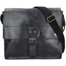 pánská kožená taška 2JUS Land 4 černá 44ae6a31f6d
