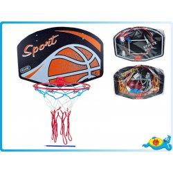 Desková hry Mikro Trading Koš na basketbal dřevo/kov 60x42cm v sáčku