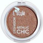 E STYLE Zářivé až bronzové metalické oční stíny 6 DAISY Eye Shadow METALLIC CHIC 6 g