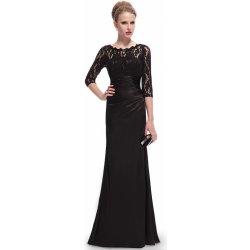 Dlouhé zeštíhlující šaty s rukávem elegantní černá 71c2d49c19