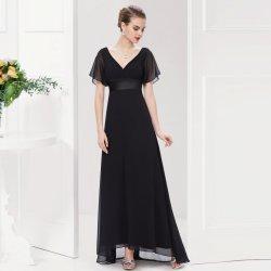 Plesové šaty Dlouhé šaty společenské s rukávem černá cca91b7727