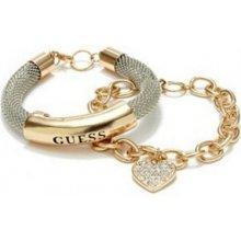 GUESS náramek Hematite-Tone Mesh ID Bracelet P257171527A
