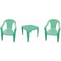 82718edb637a4 GRAND SOLEIL Sada stoleček a dvě židličky zelená od 379 Kč - Heureka.cz