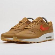 Nike wmns Air Max 1 Premium wheat   team orange gum yellow 4ad87e357a