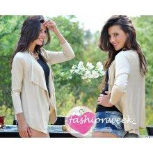c482386fddf Fashionweek Krásně pletená přehozka svetr Basic lara Béžový