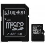 Kingston microSDHC 8GB UHS-I U1 + adaptér SDC10G2/8GB