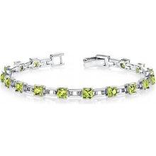 Eppi stříbrný náramek s princess olivíny Navie BR33016