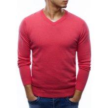 Pánský klasický růžový svetr (wx1004)