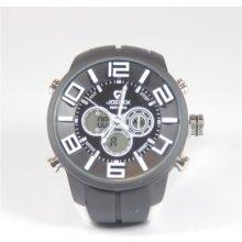 Quamer Sport Watch Black/White