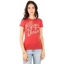 Tommy Hilfiger dámské tričko Basic červené 62c3705a04