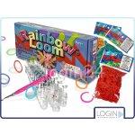Rainbow loom gumičky 600ks s tkalcovským stavem a háčkem