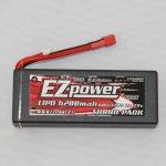 EZPOWER LIPO 7.4V 6200mAh 60C HARDCASE - DEAN