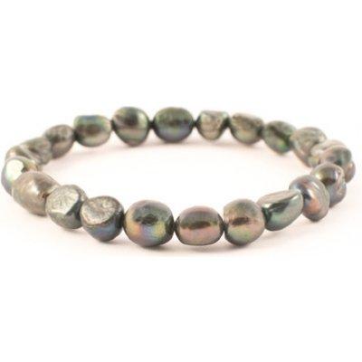 Milujeme Kameny náramek černá perla NV112