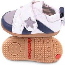 Barefoot dětské Shooshoos White Grey Sneaker