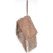 kabelka z pravé broušené kůže 81 Brown