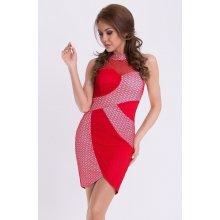 af35b974d0e Emamoda dámské společenské šaty bez rukávů červená