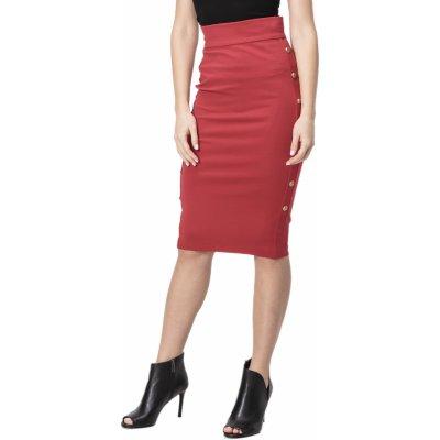 Pinko sukně černá červená
