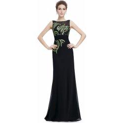 Dlouhé plesové šaty s flitry pro plnoštíhlé černá 46c3fb41dd
