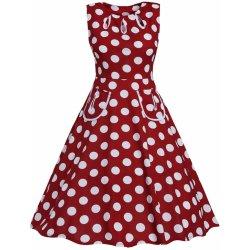 Dámské Retro šaty s puntíky červená dámské šaty - Nejlepší Ceny.cz 3c72820f70