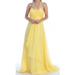 Dlouhé Společenské šaty žluté Sunlight plesové šaty