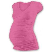 Vanda těhotenské tričko s V výstřihem mini rukáv růžová