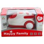 HAPPY FAMILY vysavač se zvukem a světlem 22cm bílo/červený