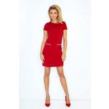 Numoco dámské šaty 134-2 červená d9918b72d24