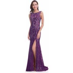 Večerní šaty s rozparkem fialová od 1 699 Kč - Heureka.cz 6ef683073c