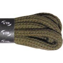 Kulaté khaki bavlněné tkaničky 70 cm