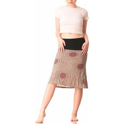 Střečová sukně krátká Kruhy cream