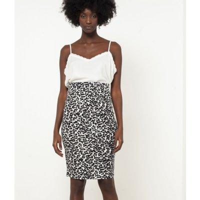 Camaieu sukně s levhartím vzorem černá