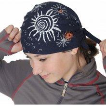 Infit Pirát trojúhelníkový šátek dvouvrstvý tmavě modrý sluníčka eaa17d2990