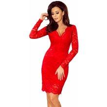 9aa74b4d91be Společenské dámské šaty s dlouhým rukávem krajkové červená