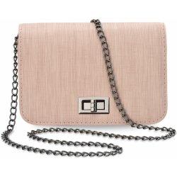 malá listonoška zpevněná dámská kabelka na řetízku růžová od 169 Kč ... 6909c9eb261