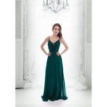 Eva   Lola plesové šaty Coline tmavě zelená f1a881c121