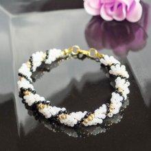 hedy natelNáramek Černobílá elegance bílá 30