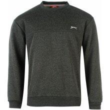 Slazenger SL Fleece Crew Sweater Mens Charcoal Marl