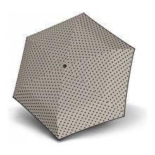 Doppler Dámský mechanický deštník Hit Micro Dots šedý s puntíky 710565PD01