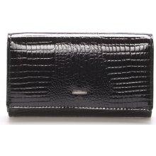 Angela Moretti WL22 černá kožená peněženka černá
